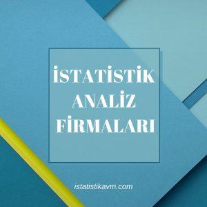 istatistik analiz firmaları